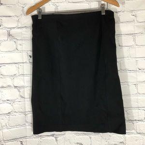 Ann Taylor Pencil Skirt Black Size 8 ZipUp Stretch
